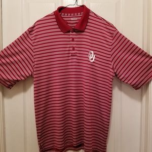 OU NCAA logo UNDER ARMOUR polo (M)